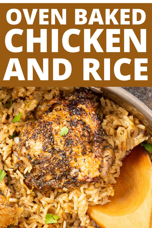 Baked Chicken And Rice Walnut Chicken Recipe Oven Baked Chicken Thighs Oven Baked Chicken