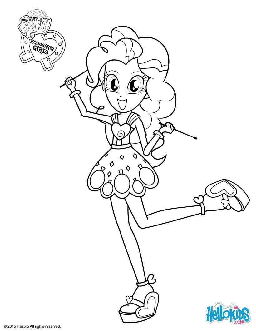 Colouring pages with colour - Pinkie Pie Coloring Page