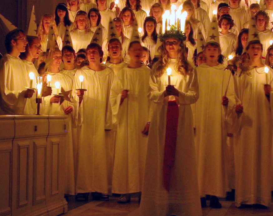 Luciadagen Or St Lucia S Day Is A Special Day In Sweden That Is Celebrated Annually On December 13th Also Known Santa Lucia Day St Lucia Day Sankta Lucia
