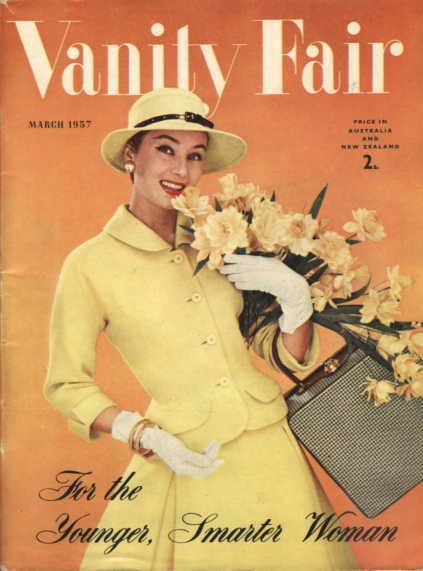 vanity fair cover march 1957 fashion magazine cover magazine covers