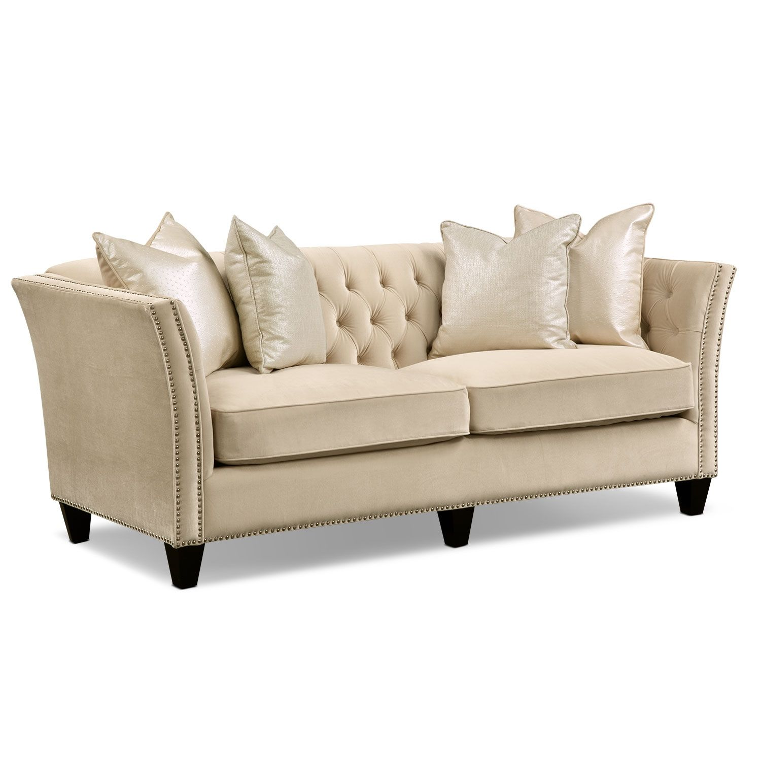 Living Room Furniture Nicole Pearl Sofa
