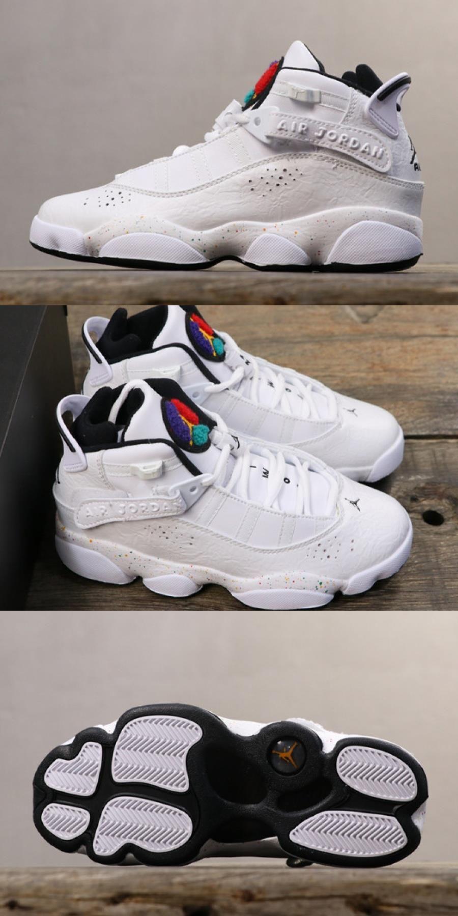 "2020 的 Women's Air Jordan 6 Rings ""confetti"" White/black"