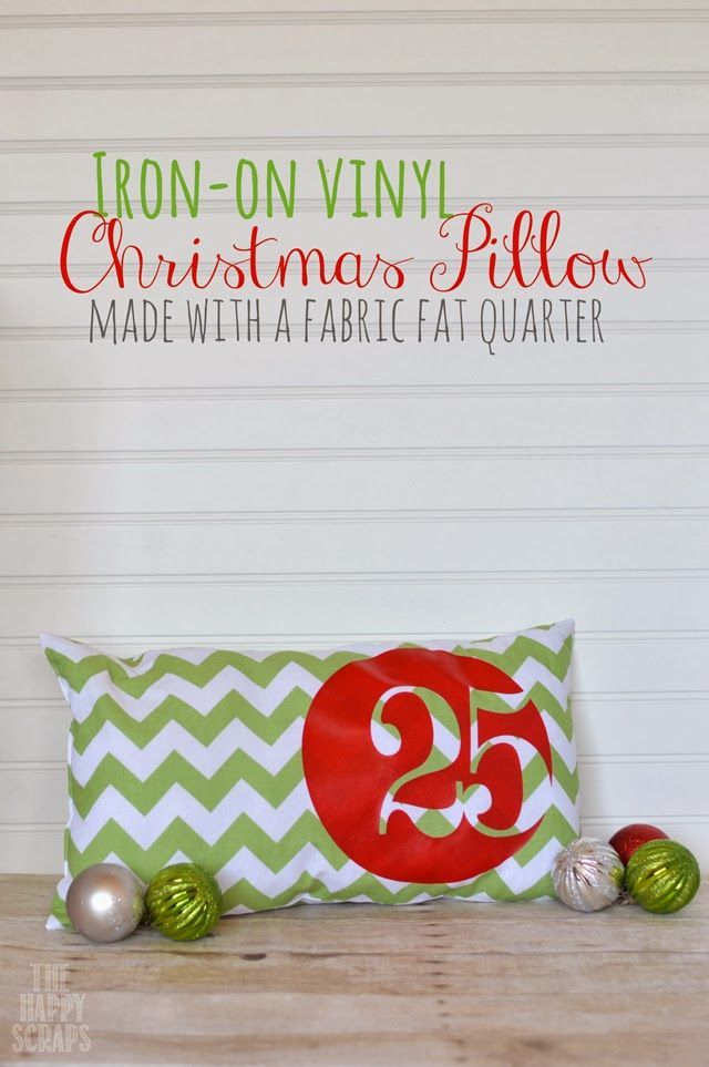25 Christmas Pillow - The Happy Scraps #Christmas #christmaspillow #happy #pillow #Scraps