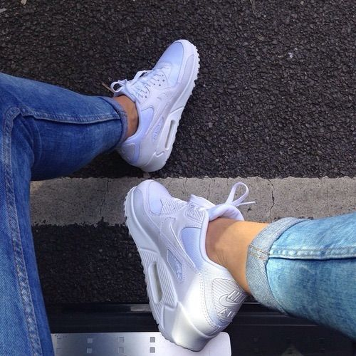 Nike Air Max Thea Womens Light Blue White on We Heart It
