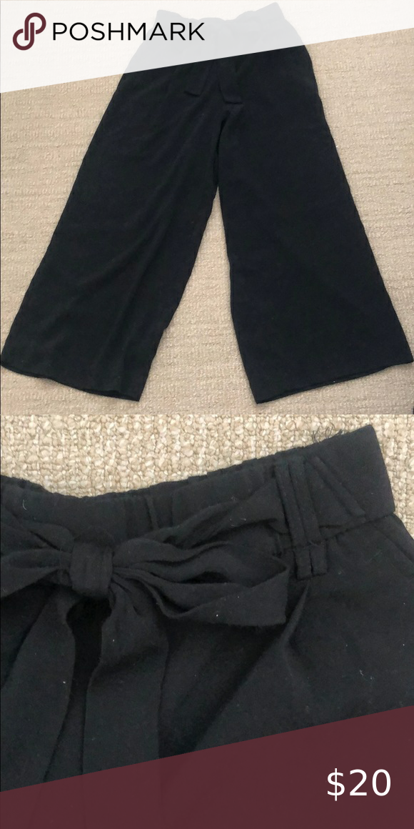 Zara cropped kick flare pants