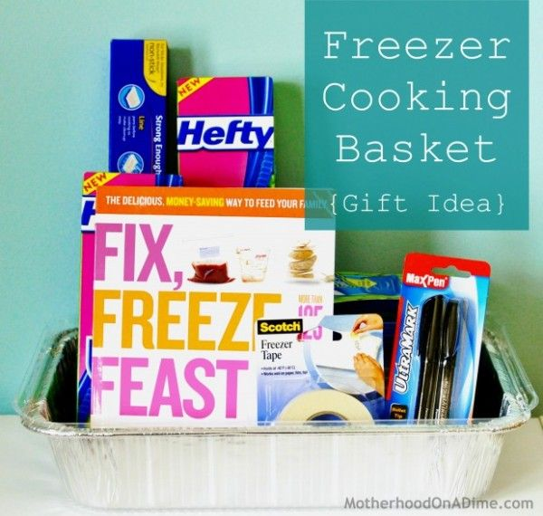Great Inexpensive Wedding Gifts: Do It Yourself: Homemade Freezer Cooking Gift Basket