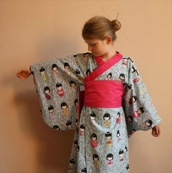 D guisement kimono enfant japon for Irresistible a coudre 4 8 ans