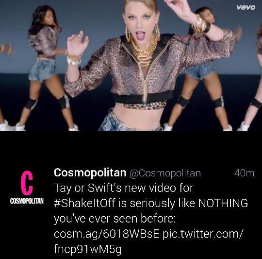 Cosmopolitan chose this photo of her.. I wonder why