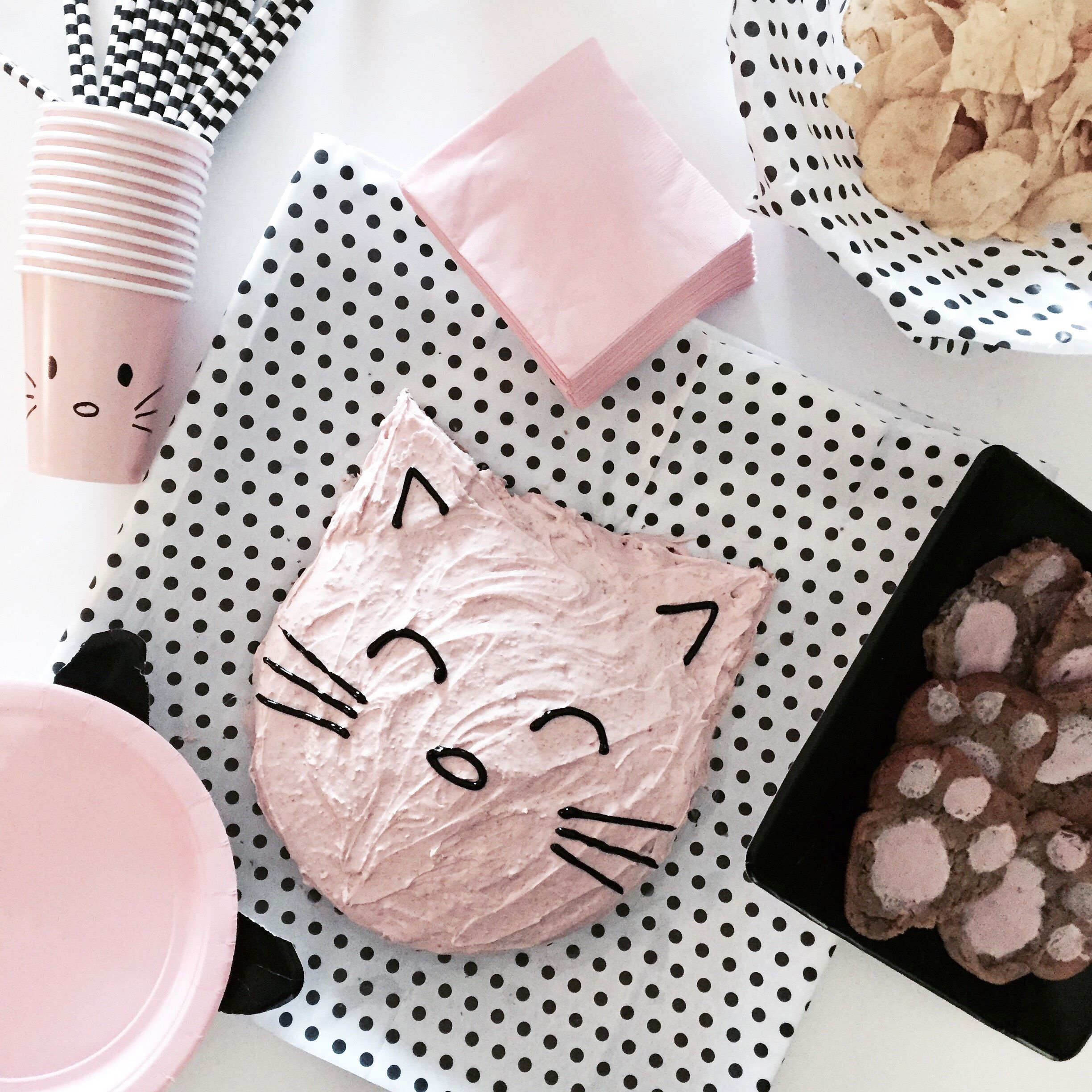 DIY Kitty Cat Themed Birthday Party - Bloom & Clementine