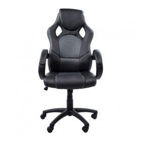 Silla Oficina Ejecutiva Deportiva color negro y gris ... ¡ideal para ...