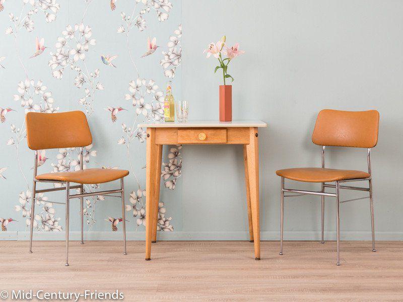 Vintage Tische - Kleiner 50Er Küchentisch, Tisch, 60Er, Vintage