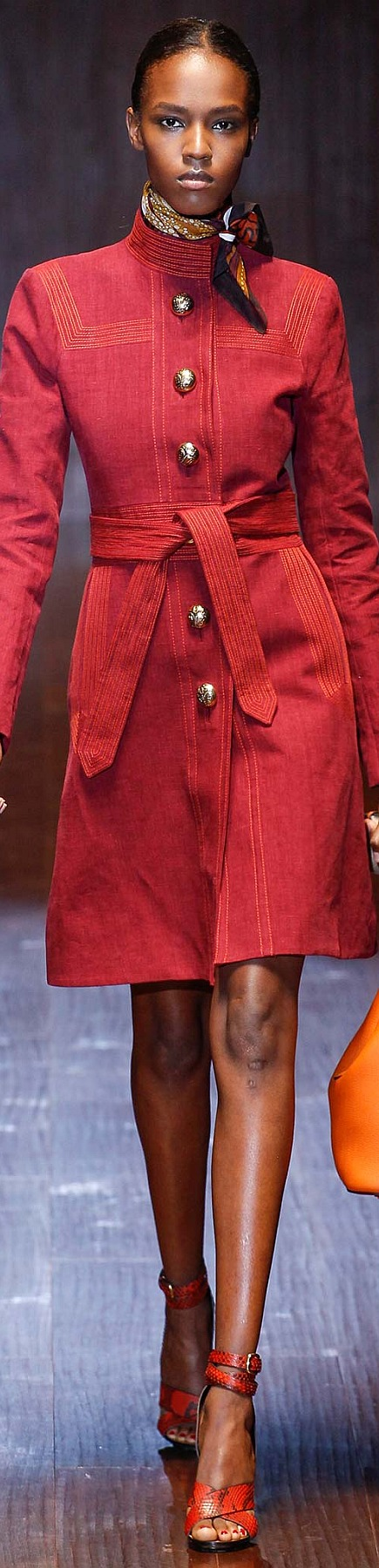 Gucci Collection Spring 2015 | The House of Beccaria~ red coat women fashion outfit clothing style apparel @roressclothes closet ideas