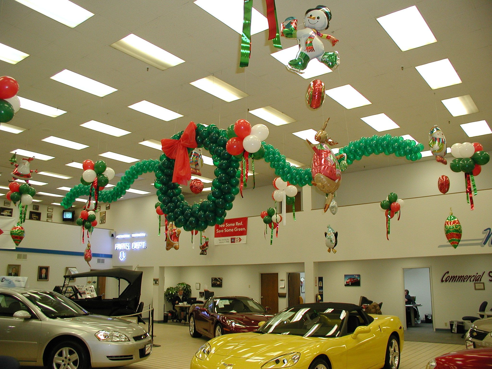 Pin by andon balloons signs on car dealerships for Christmas ceiling decorations
