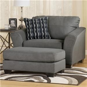 Stretch Out With This Cozy, Extra Wide Chair And 1/2 And Ottoman Set.  Gently Flared Arms And Thick Block Hardwood Feet Provide A Contemporary  Design To ...