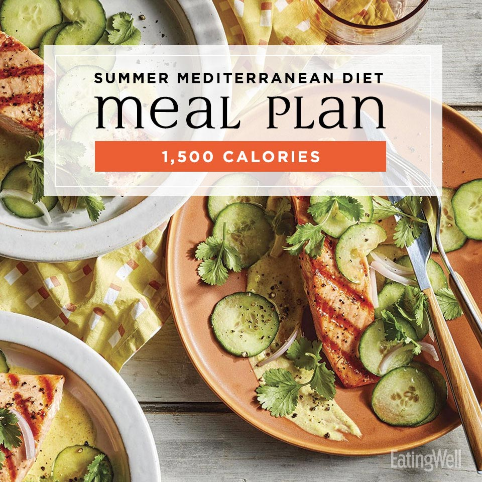 Mediterranean Diet Meal Plan for Summer: 1,500 Calories