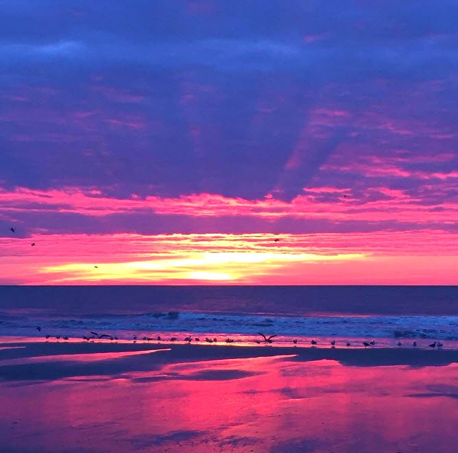 Start Your Day With A Myrtle Beach South Carolina Sunrise Oceanfront Roo Romantic Beach Vacations Myrtle Beach Hotels Family Friendly Vacation Destinations