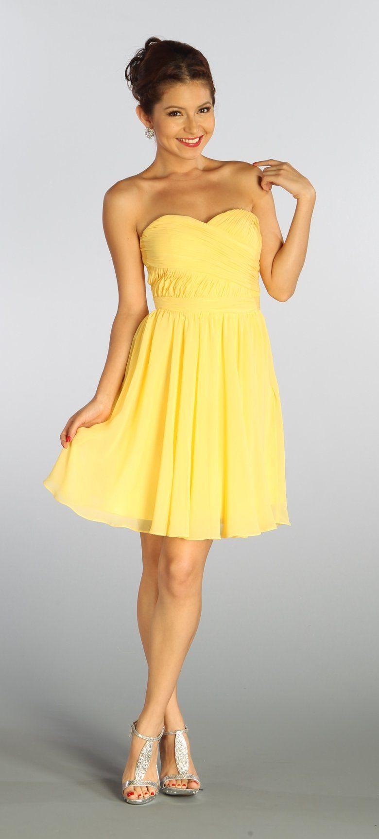 Yellow Dresses Dresses Cheap Dresses Graduation Dress High School [ 1725 x 780 Pixel ]