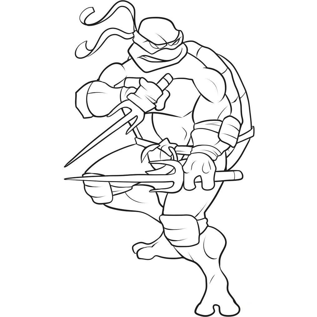 Teenage Mutant Ninja Turtles Coloring Page Turtle Coloring Pages