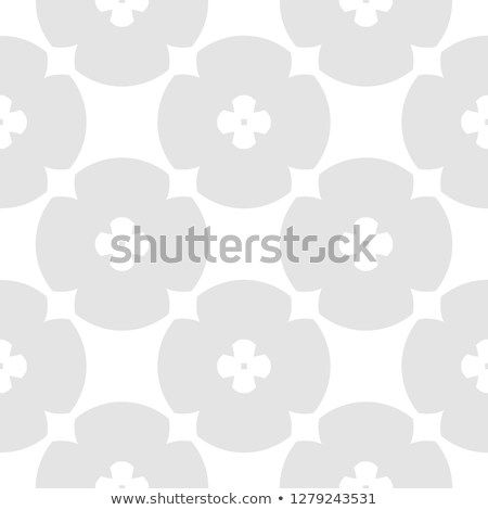 Subtle geometric floral pattern vector seamless texture with flower shapes circles crosses also abstract elegant white and light rh pinterest