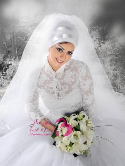 فساتين زفاف للمحجبات مس ناني نتشارك الحياة Engagement Dresses Beautiful Wedding Dresses Veil Dress