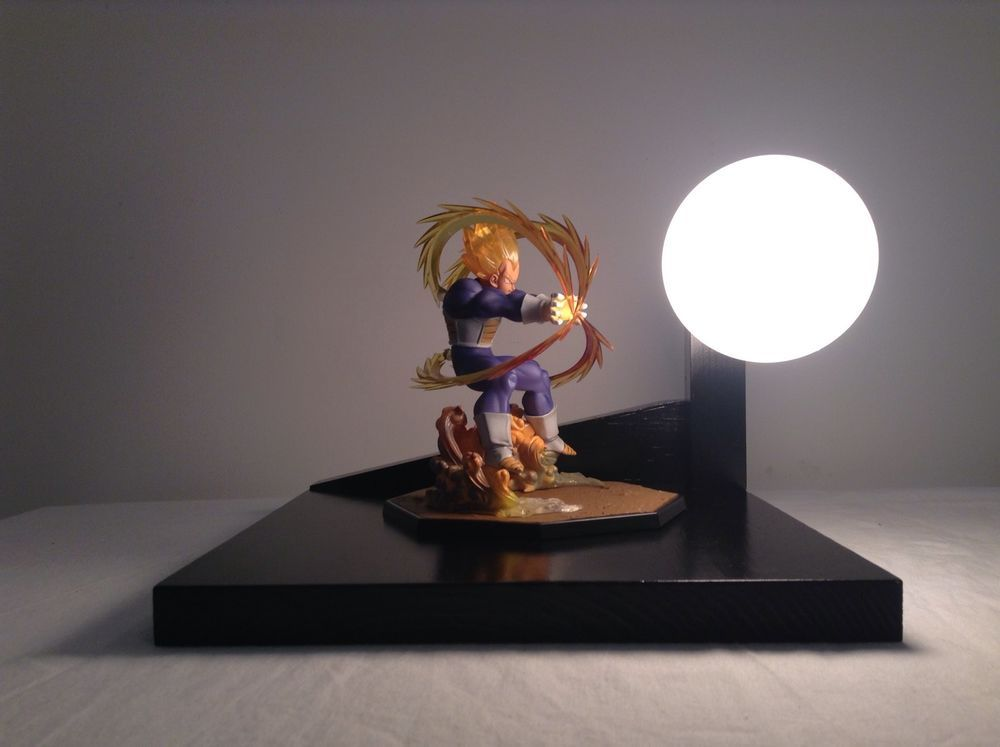 Modern Design Vegeta Super Saiyan Final Flash Lamp / Vegeta SS Dragonball Z  Lamp