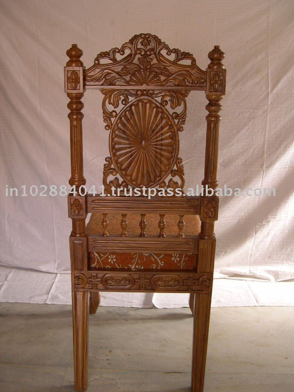Indian Carving Chair Carved Chairs, Hand Carved Wood Furniture India