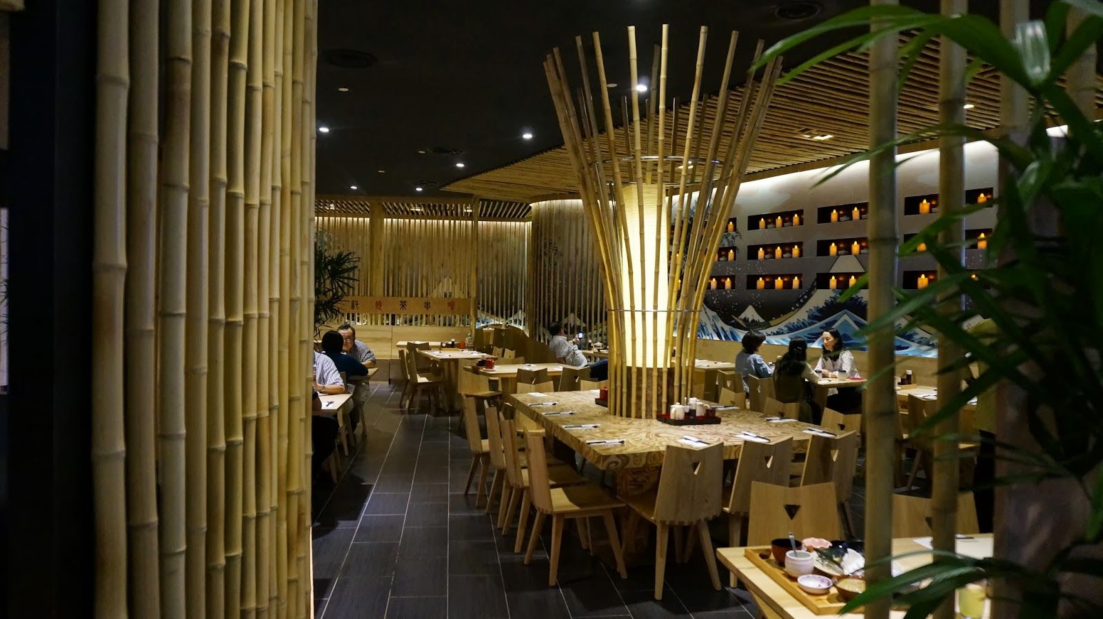 decorating bamboo decorating ideas interior design japanese restaurant design ideas with bamboo interior decoration utilizing bamboo interior design - Cyan Cafe Interior