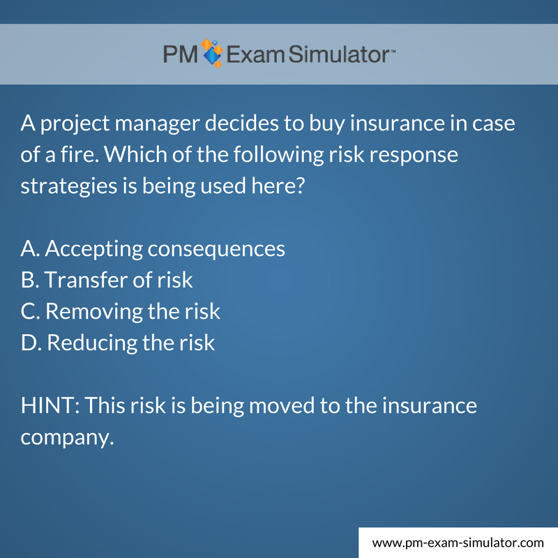 Free Pmp Exam Sample Question Of The Week Pmp Pmpexam Pmp