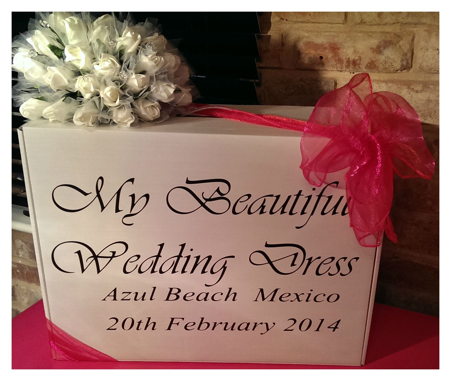 Another Personalised Wedding Dress Travel Box For #Mexico