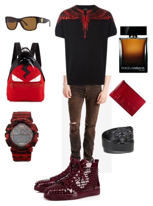 """Purgatory"" by cacagasp on Polyvore featuring Levi's, County Of Milan, Gucci, Fendi, Casio, Dolce&Gabbana, Versace, men's fashion e menswear"