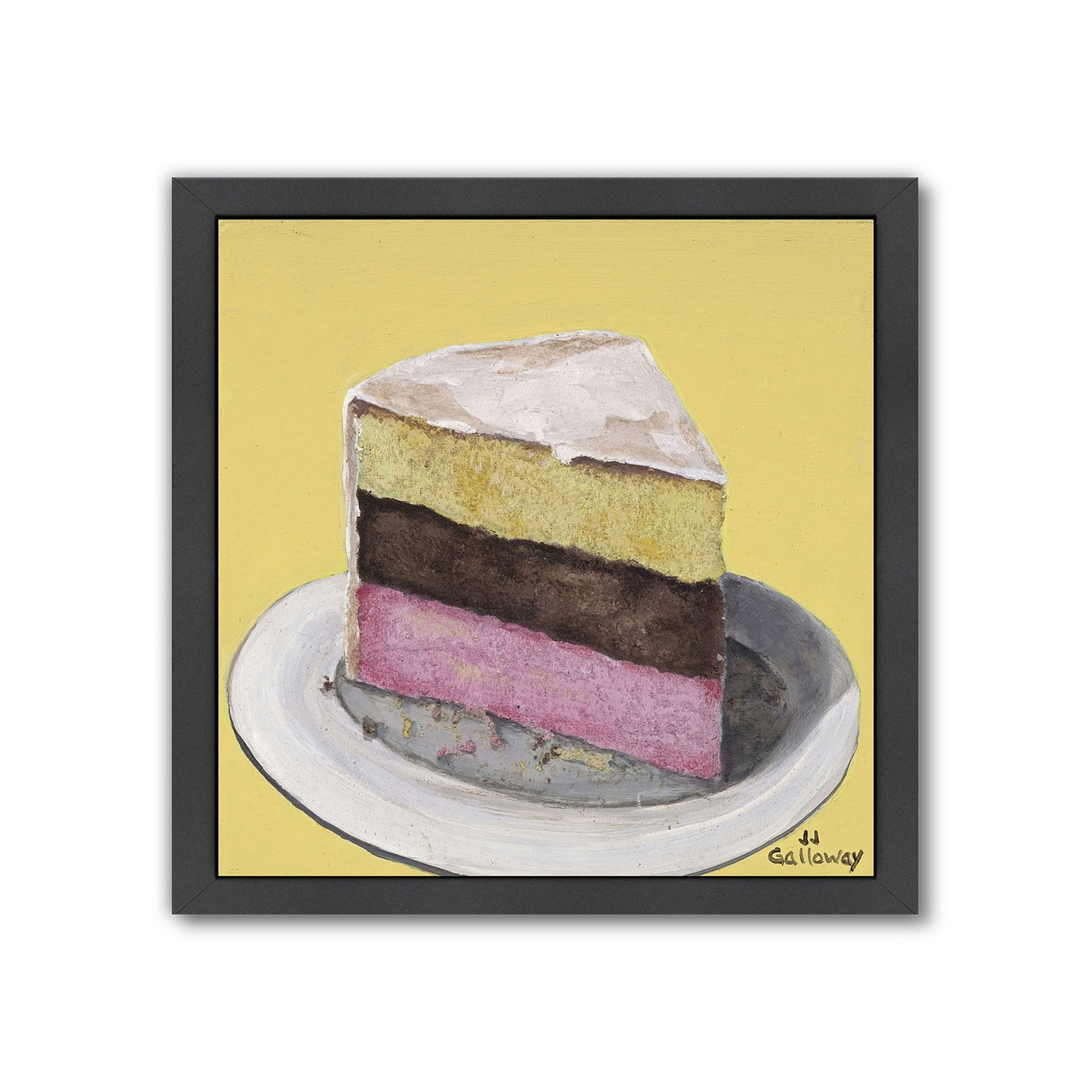 Americanflat Neapolitan Slice Black Framed Wall Art, Multicolor ...