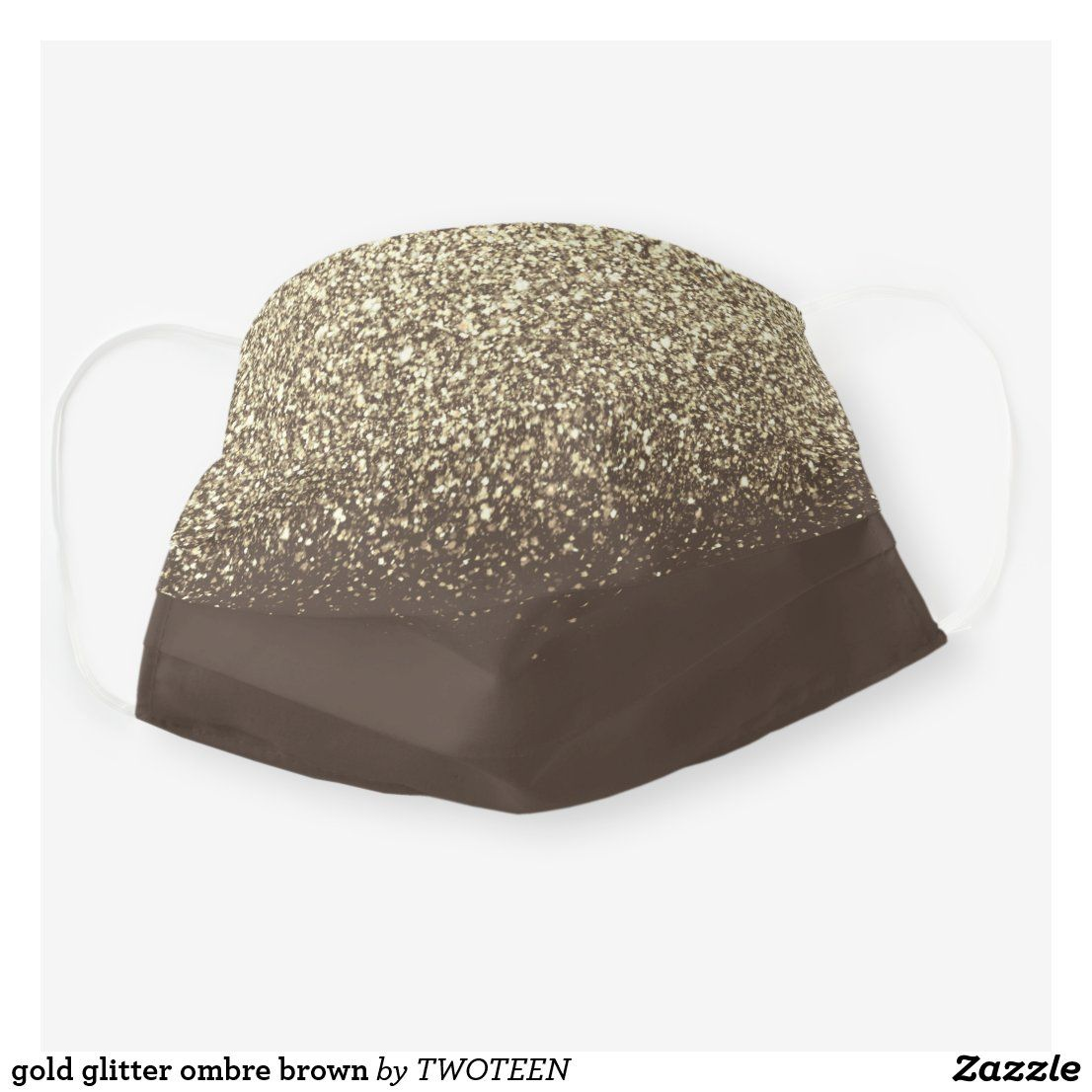Gold blush sparkle glitter ombre brown adult cloth