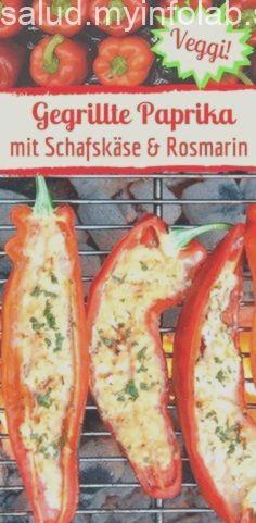 Gegrillte Paprika mit Schafskäse & Rosmarin Gegrillte Paprika mit Schafskäse & Rosmarin,