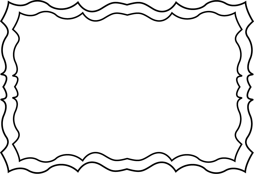 Black And White Squiggly Frame Colorir Frame Clipart