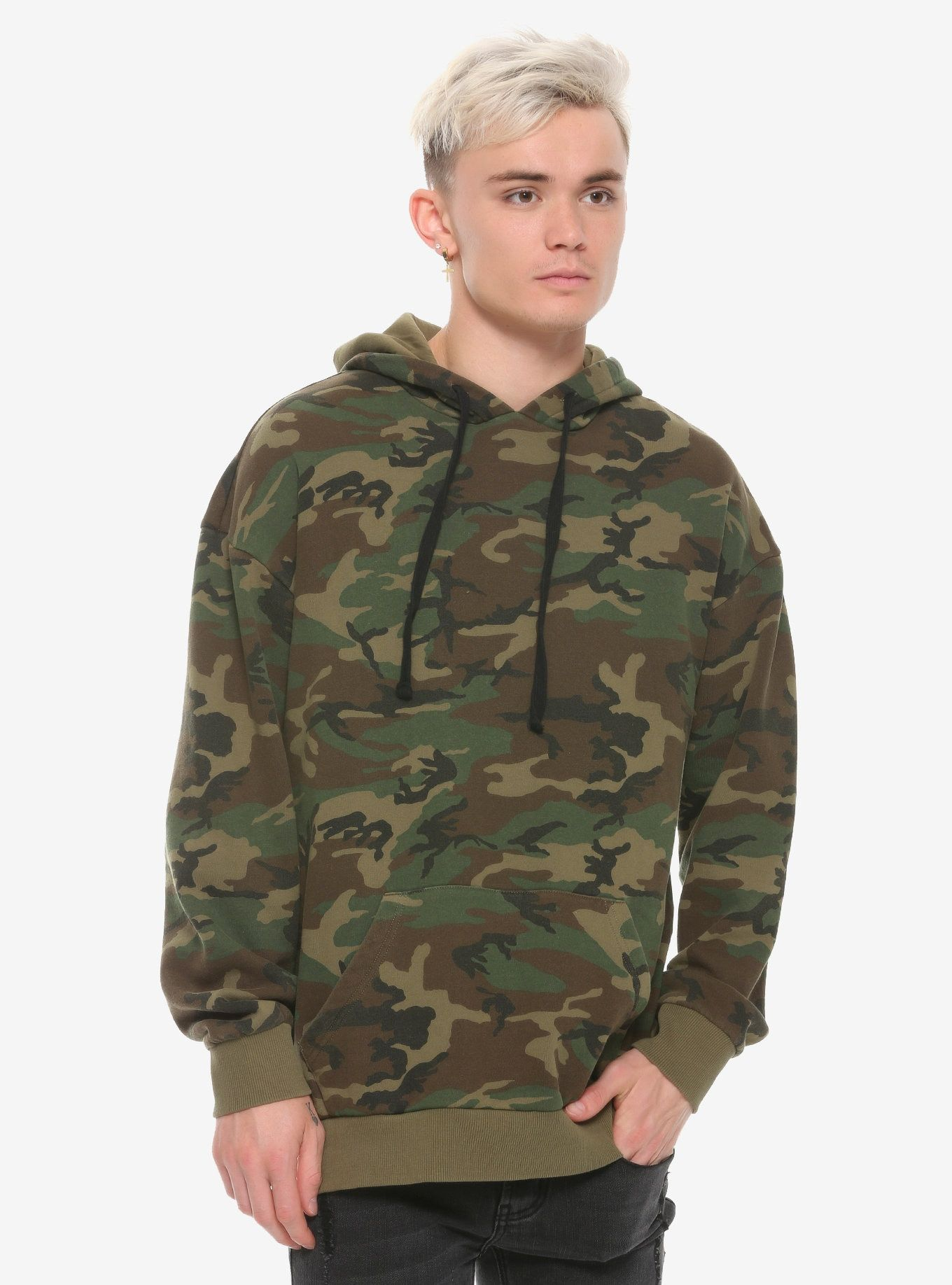 efb34a3a93484 This hoodie - you have to not see it to believe it! // Green Camo Hoodie