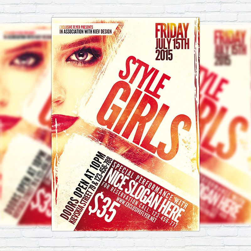Style Girls - Premium Flyer Template + Facebook Cover http://exclusiveflyer.net/product/style-girls-premium-flyer-template-facebook-cover/