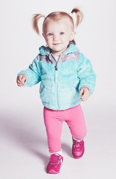 The North Face Oso Hooded Fleece Jacket Baby Girls-9805