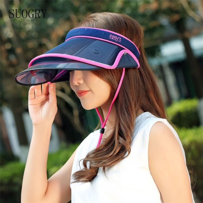 dac576332db Plastic Sun Visor Hat Wide Brim Protection Clear UV Women Sports Outdoor  Beach  Unbranded  WideBrim