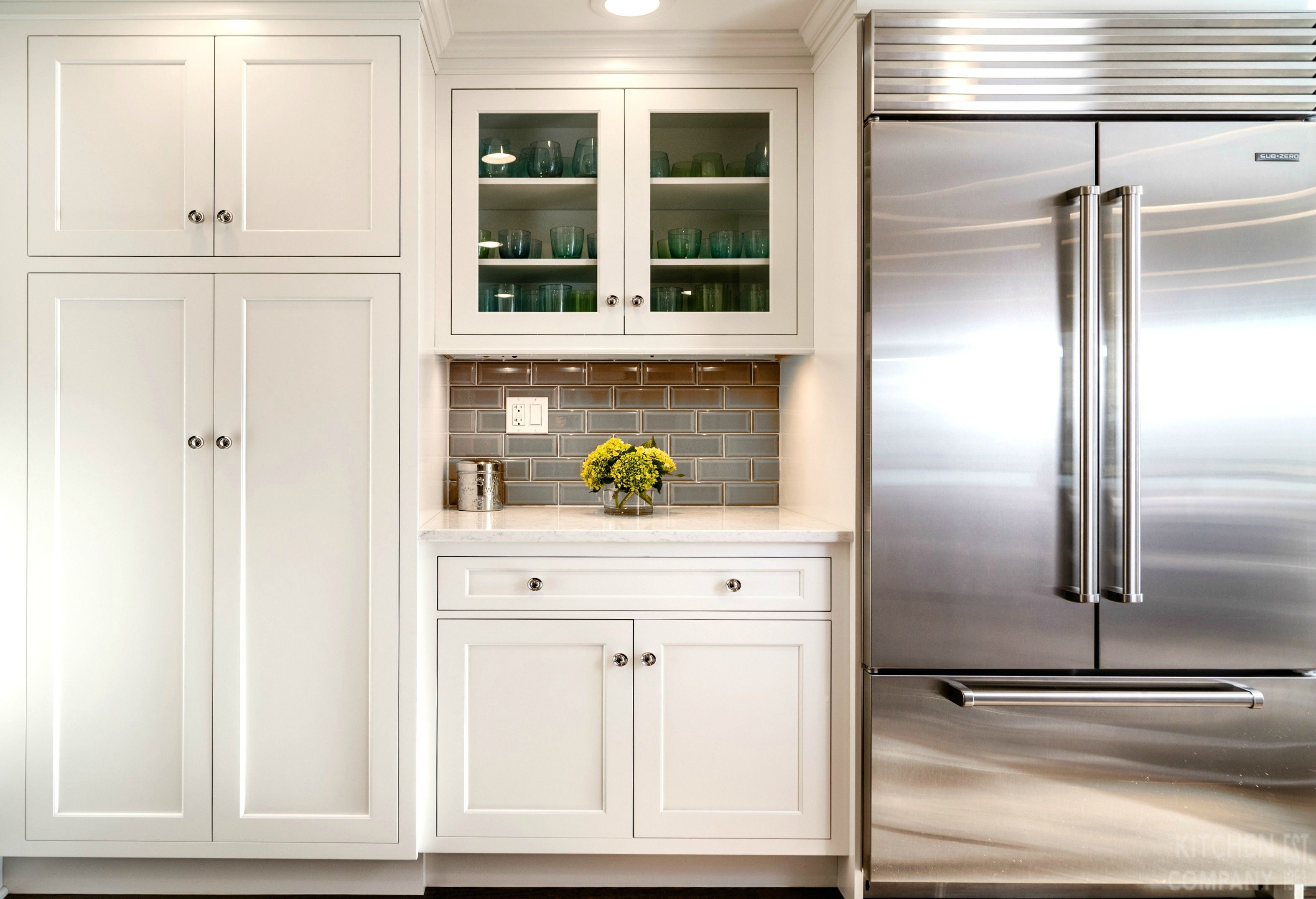 A Light Bright Beach House Pantry Cabinetry Woodmode Brookhaven With Nordic White Finish