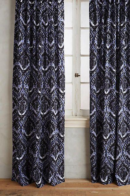 crest home design curtains. House Tiled Crest Curtain  anthropologie com HR Pinterest Doors