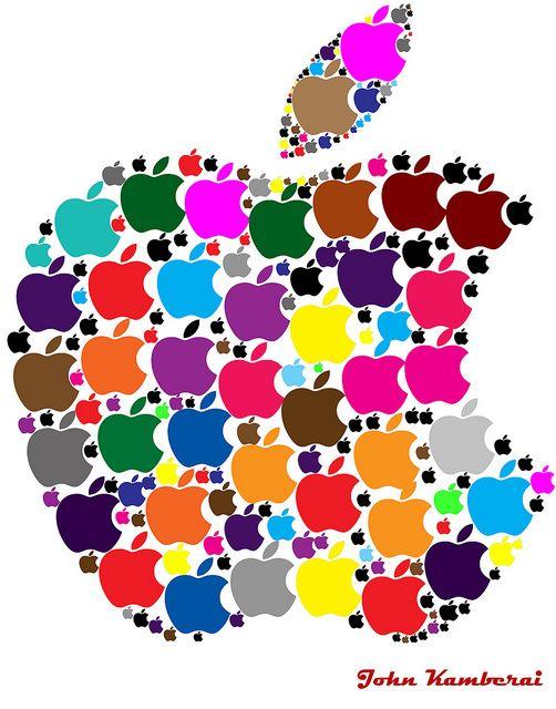 colorful apple logos. Colourful Apple Logo Creation By John Kamberai, Via Flickr Colorful Logos P