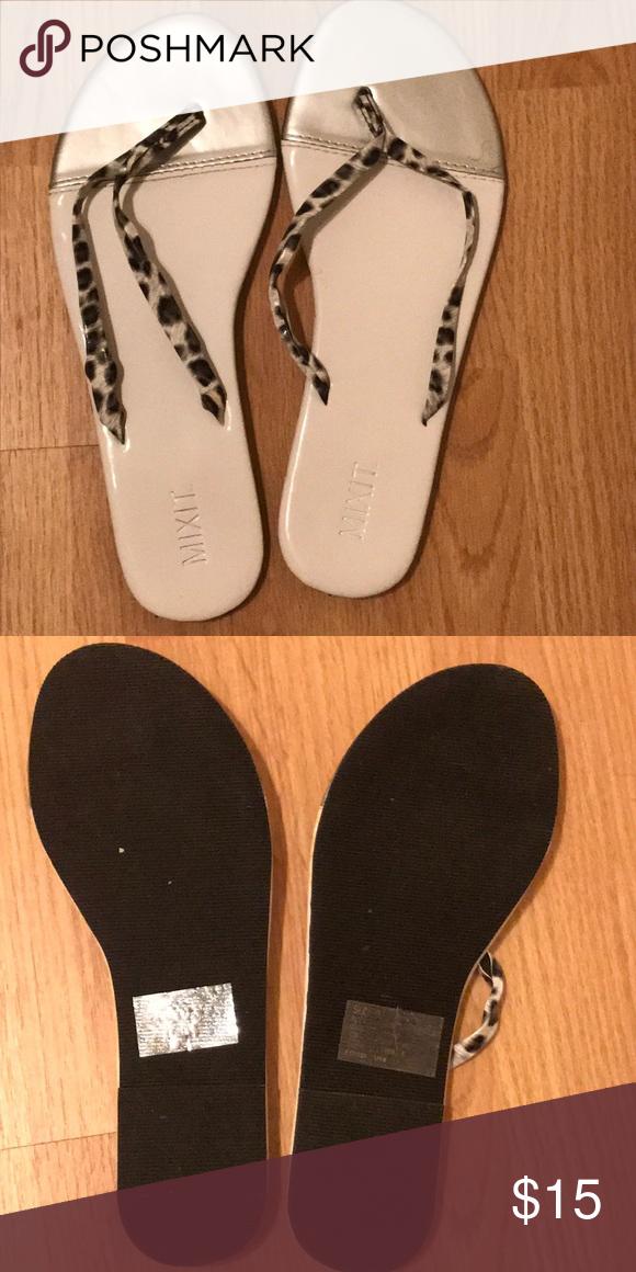 982d056fdc76a6 Fancy flip flops Zebra print flip flops Mixit Shoes Sandals