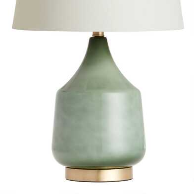 Jade Green Ombre Glass Table Lamp Base Table Lamp Base Glass Table Lamp Green Lamp Base