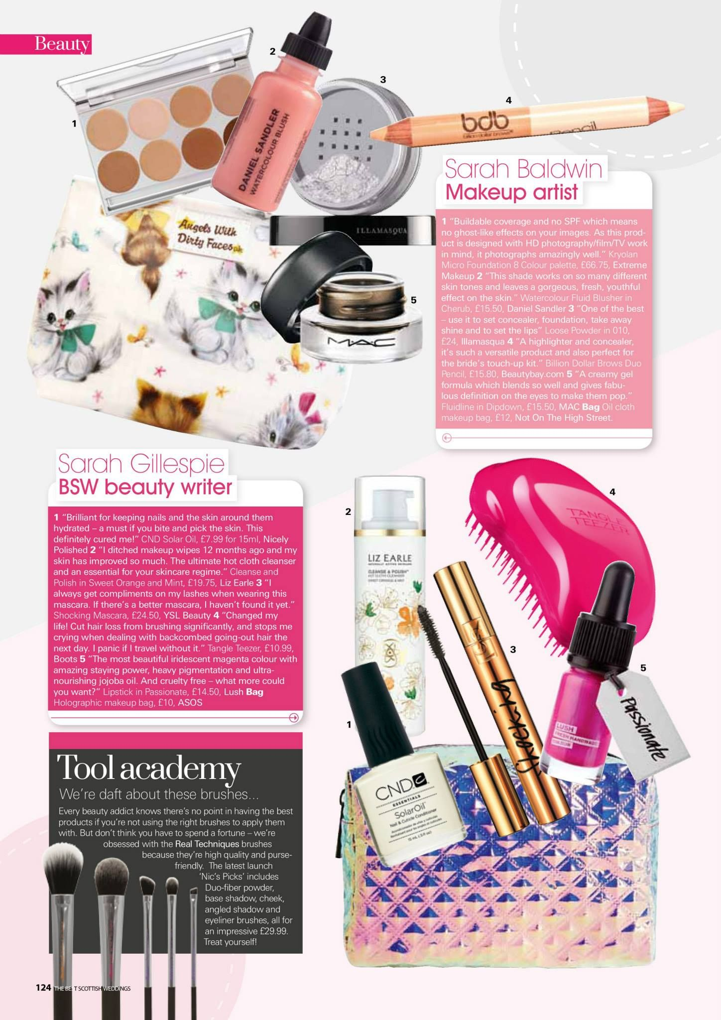 Whats in your bag feature in The Best Scottish Wedding Magazine feat ...
