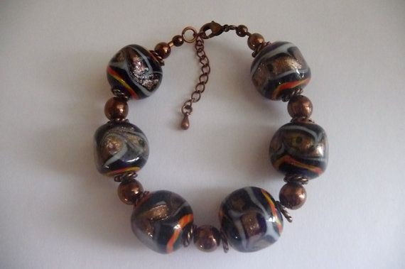 Multi Color Glass Bracelet by darlamarie23 on Etsy, $13.00