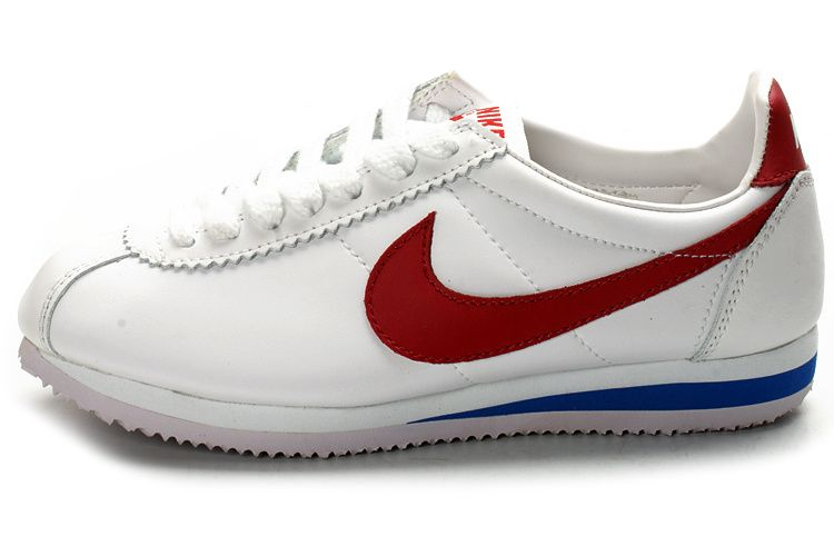 Only 72.29 WOMENS  NIKE CORTEZ LEATHER WHITE RED BLUE 3b2292d3c880