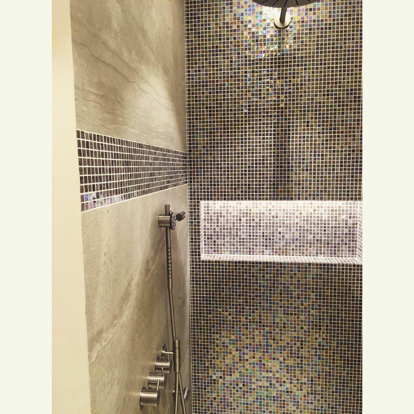inloopdouche met mozaà ek badkamers pinterest met