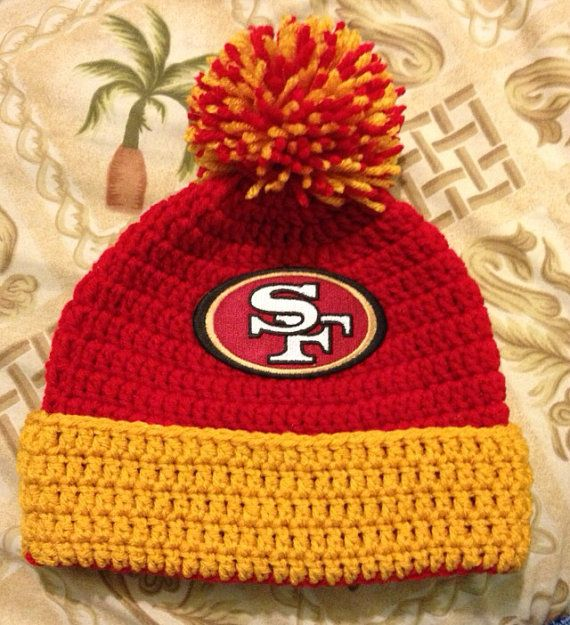 60d22ca1d NFL San Francisco 49ers Beanie by astitchintime36 on Etsy, $15.00 ...