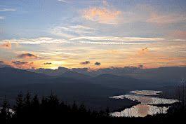 Loch Garry in the gloamin - from Glen Garry viewpoint