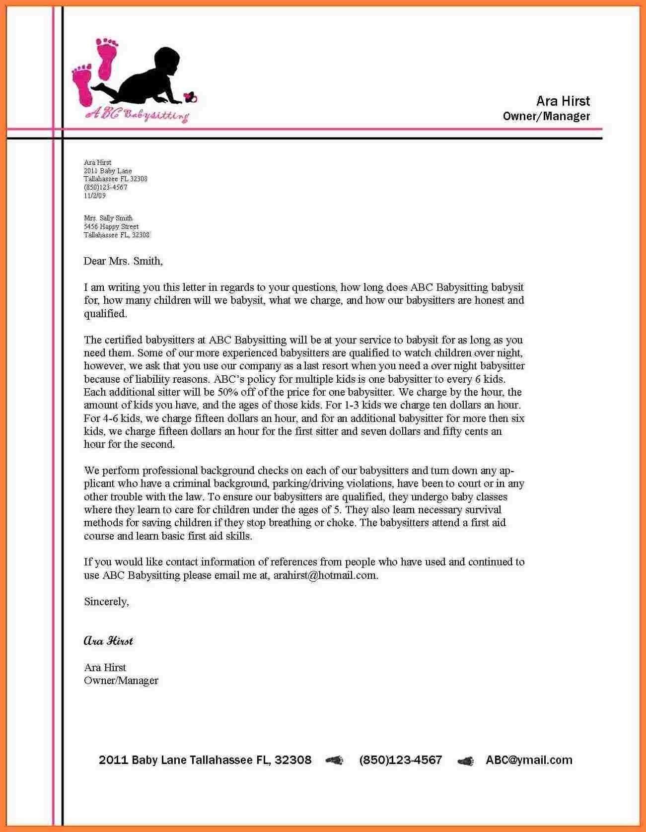 Business Letter Letterhead Business Letter Format Business